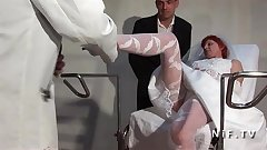 Amateur hairy french mature bride hard analized and fist fucked in 3way