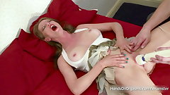 Holly Kiss Screams In Ecstasy As She Is Made To Cum