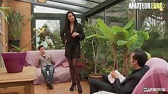 AMATEUR EURO - This Busty Polish MILF Ania Kinski Gets DP From French Hubby & Stepson