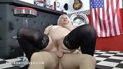 Huge tits mature Samantha Sanders big cock fucker