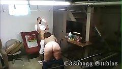 Bareback Hotel Maid on Security Cam