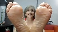 Mature perfect soles dildo stimulating excitant
