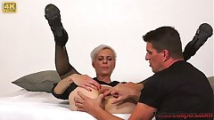Sexy skinny mature woman Belinda Bee hardcore pussy banging and fucking in 4K - MatureGapers.com