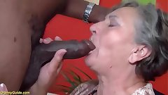 busty 80 years venerable granny first time interracial fucked