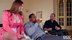 Horny As Bonk - Husband And Friend Reproduce Penetrate Hot Milf Lucia Exalt