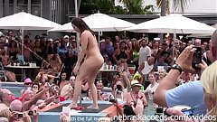 wild milfs stripping down naked in pool hot congregation line contest