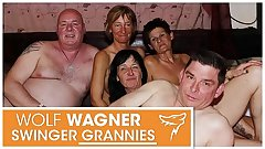 YUCK! Ugly old swingers! Grannies & grandpas have themselves a naughty fuck fest! WolfWagner.com