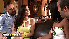 Gorgeous Girls Adriana Chechik plus Kendra Lust Share A Huge Dick