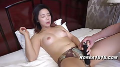 Korean porn model gets fucked by unsightly Japanese guy