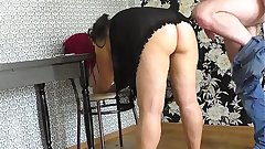 Mom took stepson's cock and sucked. Anal