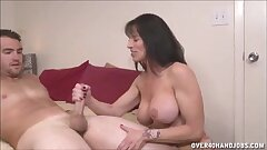 Night-time Milf Topless Handjob