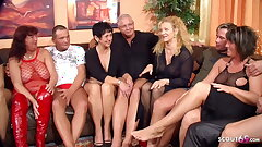 Real German Grown up Swinger Party with 4 Couple Change Wife