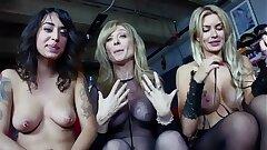 Nina Hartley introduces the brush lesbian girls