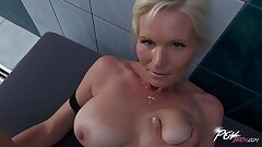 Povbitch Busty milf cleaning lady was bad & punished unchanging with big cock
