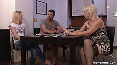 He leaves together with mature butch seduces her